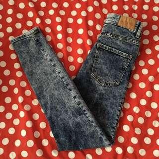 MONKI Acid Wash Jeans
