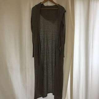 Long Grey Cardigan Envious Size Xs