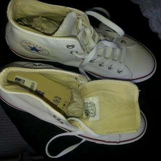 White Leather Converse Shoes