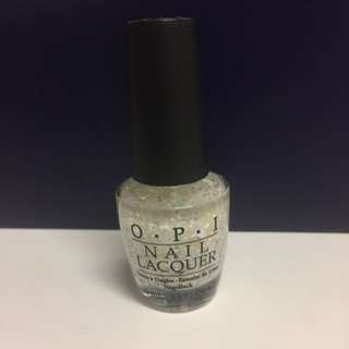 NEW OPI Authentic Square Glitter Lights Of Emerald City Nail Polish - Full Size