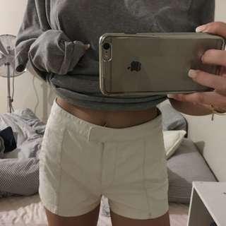 Bardot Leather Shorts Size 6
