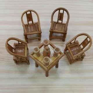 #璀璨瓔珞#  台南早期迷你手做藤製擺件