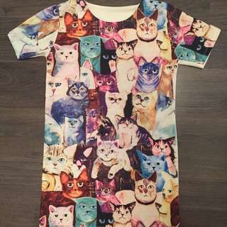 EPIC Crazy Cat Lady Extra Long T-shirt/ Dress