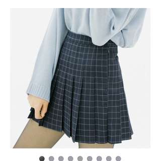 Checked/grid Pleated Tennis Skirt