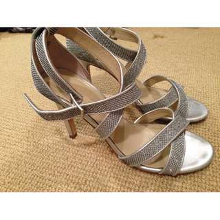 Jane Debster silver heels