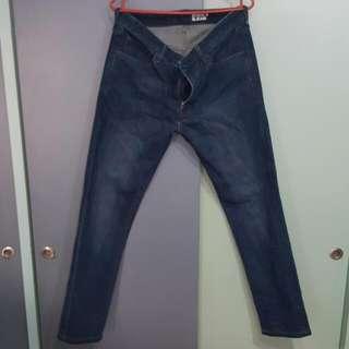 Uniqlo Mens Skinny Fit Dark Blue Jeans (1)