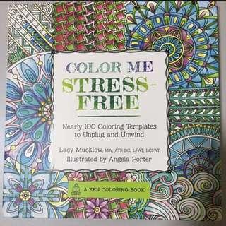 COLOUR ME STRESS FREE colouring book