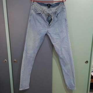 H&M Skinny Fit Light Blue Jeans (5)