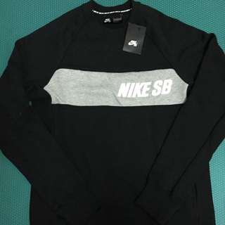 Nike Sb Crew Neck Sweat(黑) 大學T