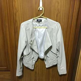 OZOC短版皮外套