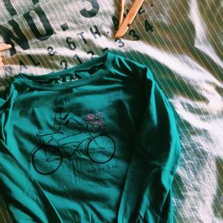 Moss Green Bicycle Sweater