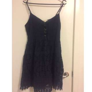 abercrombie and fitch blue lace dress