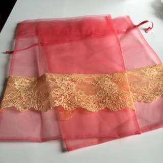 Beautiful Gauze Lace Bag Great For Christmas Wrapping