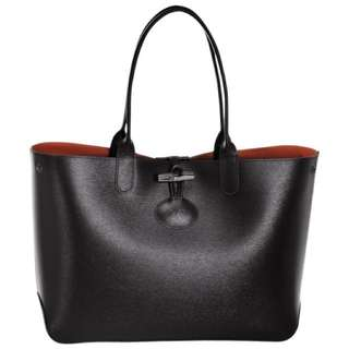 Longchamp Leather Reversible Tote Bag