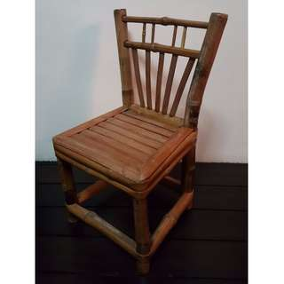 Vintage Retro Bamboo Stool Chair Small