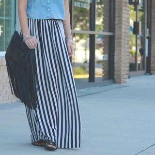 Long Skirt Striped