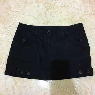 Women Mango Basic Black Skirt