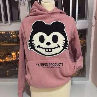 粉紅大貓衛衣hoodies