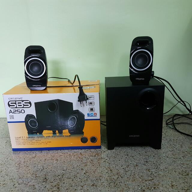 21 Speaker Creative SBS A250 Electronics Audio on Carousell
