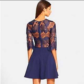 Lace Low Back Dress - Christmas Sale