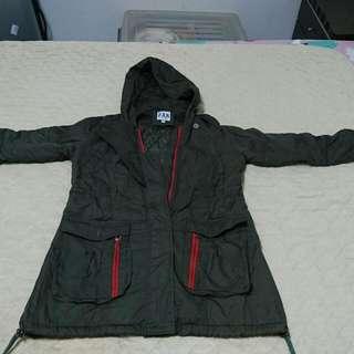 韓版軍綠軍裝外套