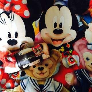 #現貨-香港 迪士尼Disney正貨米奇米妮達菲好朋友毛毯 贈迪士尼塑膠購物袋