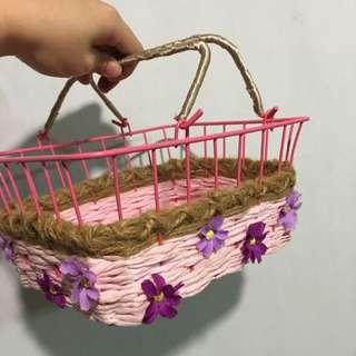 Flower Girl Basket (handmade)