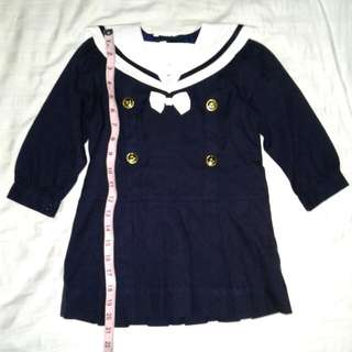 Girl's Kid's Sailor Outfit Japanese Schoolgirl Uniform Costume