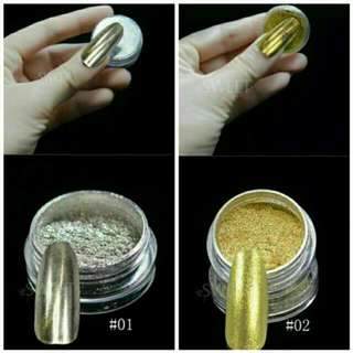 Chrome Nail Powder Mirror Effect