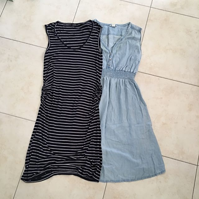 2 Summer Maternity Dresses - Fits Size 12