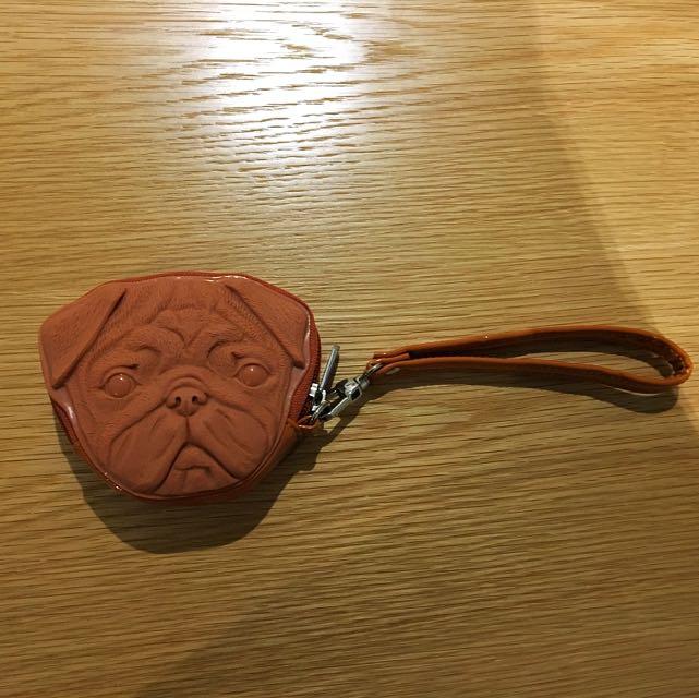 3D Pug Face Coin Purse
