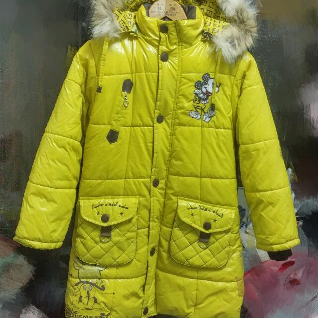 (含運)超保暖長版米奇棉衣