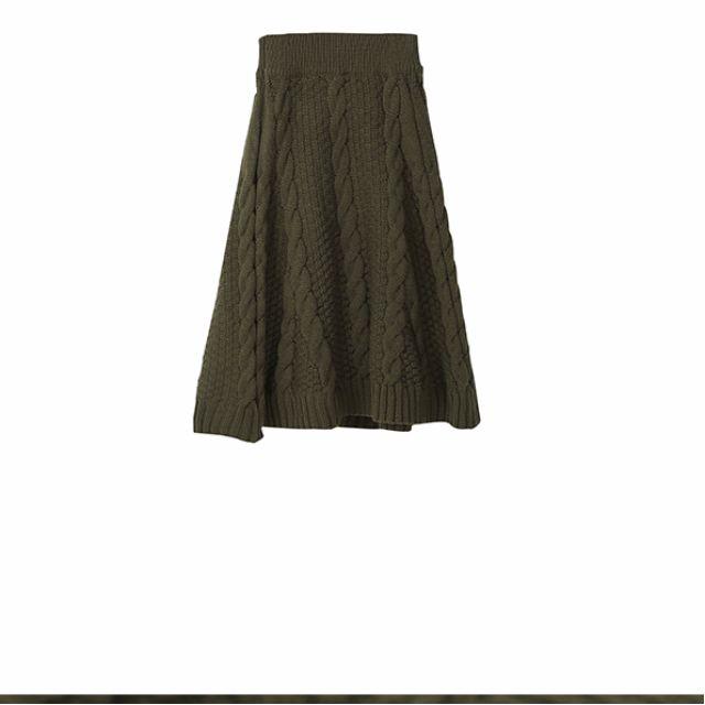 麻花針織半身裙
