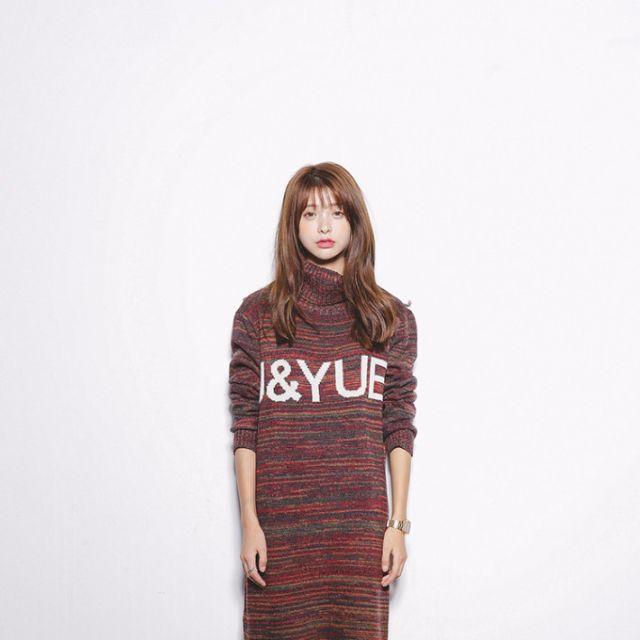 韓版高領連身毛衣