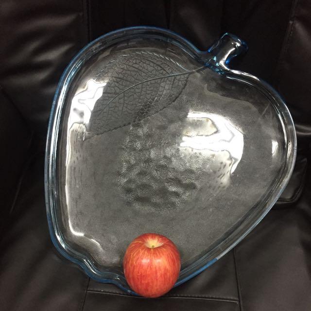 水藍色玻璃 擺盤