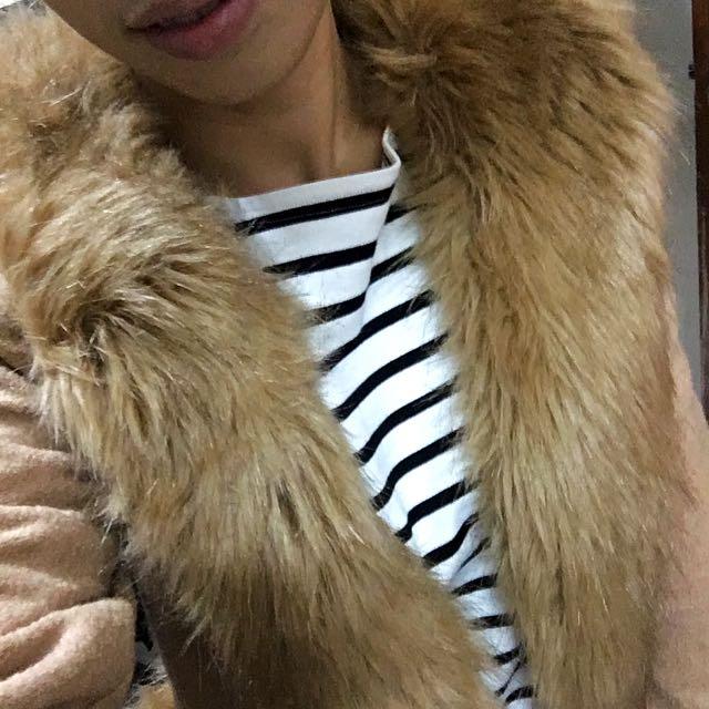 超韓 開襟短版外套毛毛外套華麗風派對風