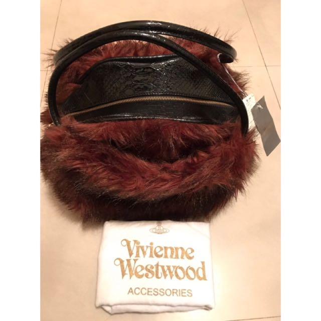 全新真品 永三進口 Vivienne Westwood 嘴唇包 大毛毛包 手提包 托特包