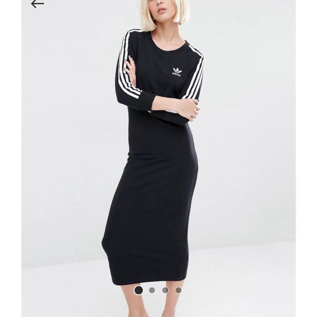 25ef39e4756 Adidas Originals Three Stripe Maxi Dress