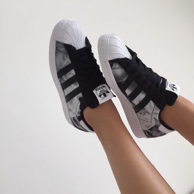 the latest b8e21 b61a7 Adidas x Rita Ora Superstar 80s Smoke, Women's Fashion ...