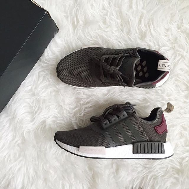 44e1ecf2257d4  ALL SIZES  Adidas NMD R1 W Camo Green   Burgundy   Nude