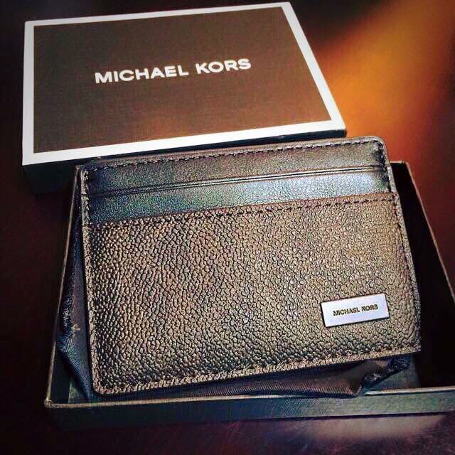 new style 9837e f0cda AUTHENTIC BRAND NEW MICHAEL KORS MENS JET SET LOGO CARD CASE, STORE STYLE  #: 39F5LMND1B <>