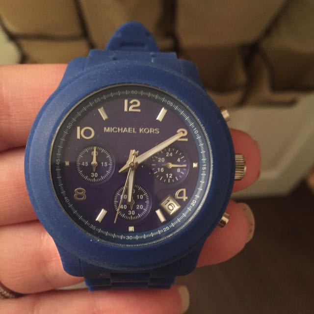 Authentic Mk Blue Watch