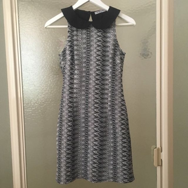 Black & White Patterned Dress