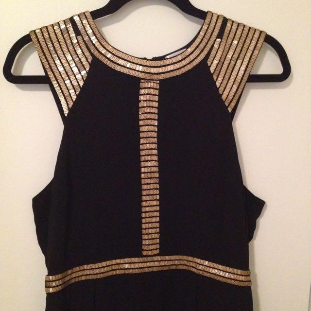 Black And Gold Tokito Dress