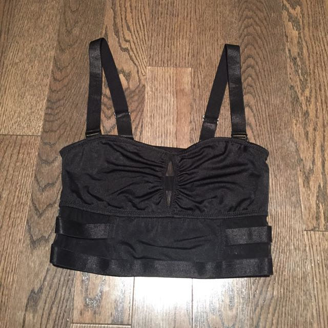 Black Cutout Bandage Style Crop Top
