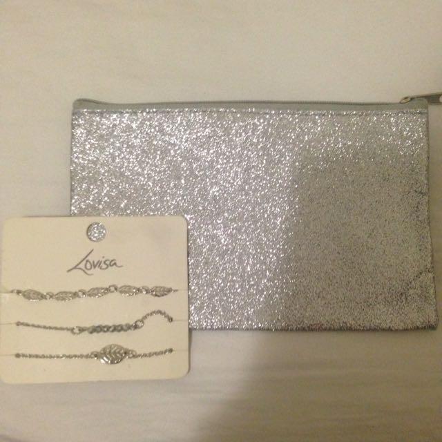BRAND NEW Lovisa bracelets & Make up bag