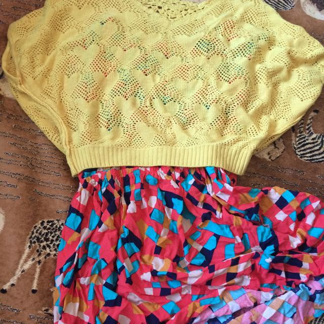 Bright Yellow Knit Top