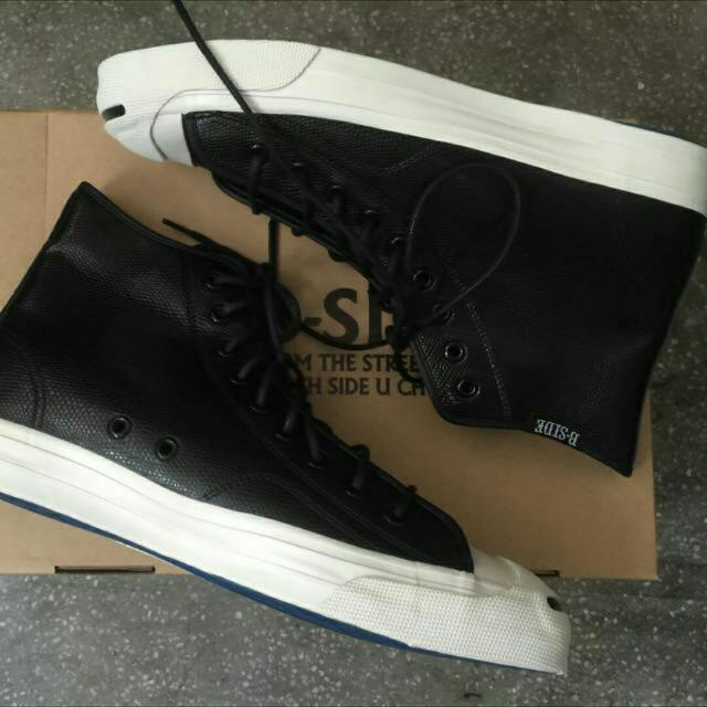 B-side#休閒鞋 帆布鞋# 高桶# 亮面#us11#uk45#29cm