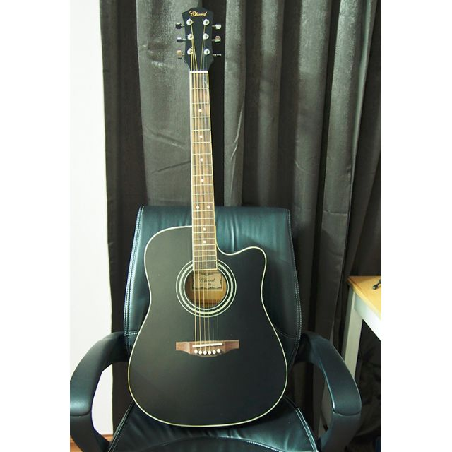 Chord ed10 41 inch acoustic guitar with bag gitar akustik, Music ...