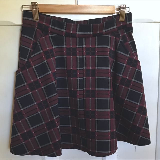Cotton On Plaid Skater Skirt